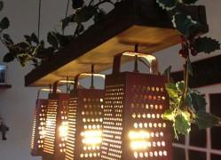 лампа из терки